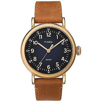 Timex | Herrer Tan lærremmen | Blå Dial | TW2T20000D7PF Watch