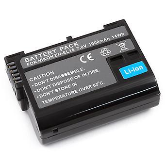 Fully Decoded Battery for Nikon EN-EL15 D800 D800E D7000 1 V1 1V1 MB-D12 MB-D11 GRIP +Microfiber