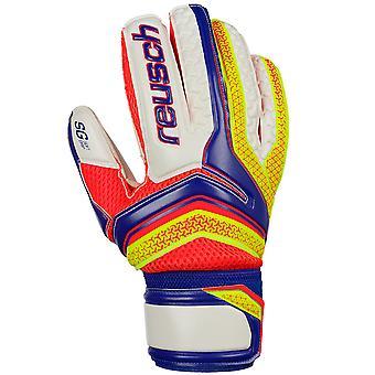 Reusch Serathor SG Soft Grip Goalkeeper Goalie Glove White/Blue/Orange