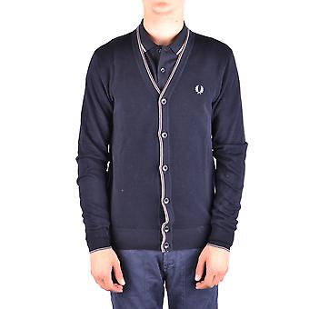 Fred Perry Ezbc094055 Men's Blue Cotton Cardigan