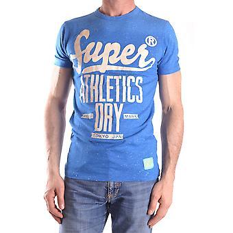Superdry Ezbc114003 Männer's blaue Baumwolle T-shirt