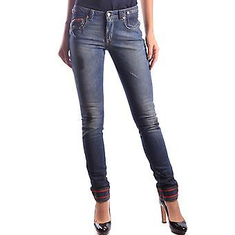 Costume National Ezbc066029 Women's Blue Cotton Jeans