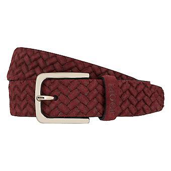 JOOP! Belts men's belts leather belt red 7928