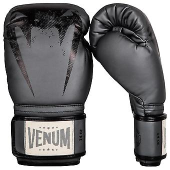 Venum Giant Hook and Loop Sparring Training Boxing Gloves - Gray/Black