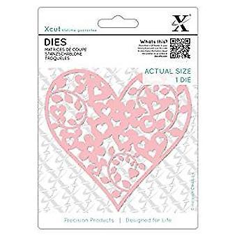 Xcut Dies Floral Love Heart