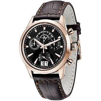 Zeno-watch mens watch gentleman chronograph Q 6662-8040Q-PGR-f1