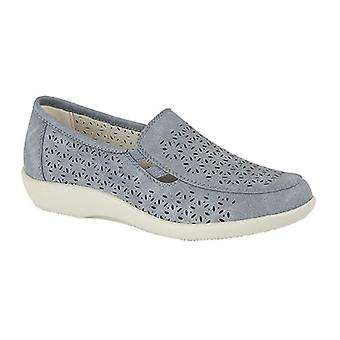 Boulevard Womens/Ladies Perforated Slip On Shoes