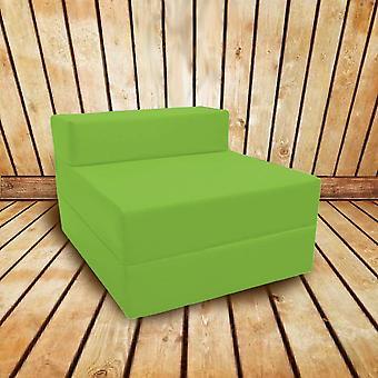 Confortável Fold Out Z Bed Chair in Lime. Macio, confortável e leve com uma tampa impermeável retirável. Disponível em 10 Cores.