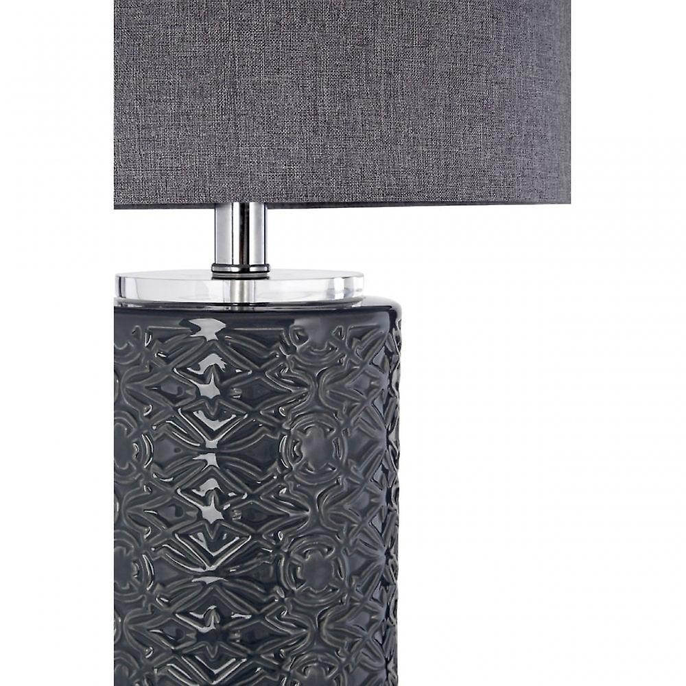 Premier Home Una Table Lamp, Ceramic, Linen