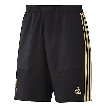 2019-2020 Real Madrid Adidas Training Woven Shorts (zwart)-kinderen