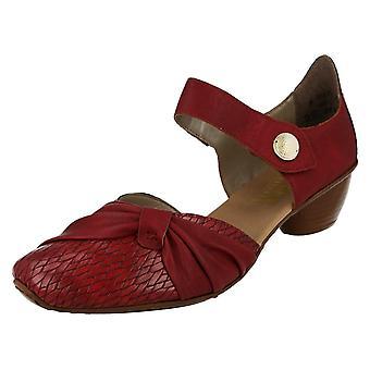 Senhoras Rieker bloco calcanhar sapatos casuais 43722-35