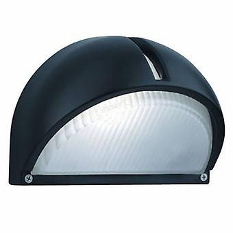 1 luce Outdoor Garden Lampada da parete in alluminio nero IP44