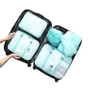 Set of organizing bags, 6 pcs-Turquoise