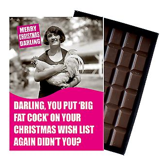 Funny Christmas Gift For Women Wife Or Girlfriend boxed Chocolate Greeting Card Present CDL160