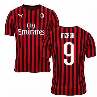 2019-2020 AC Milan Puma hjem Fotballdrakt (INZAGHI 9)