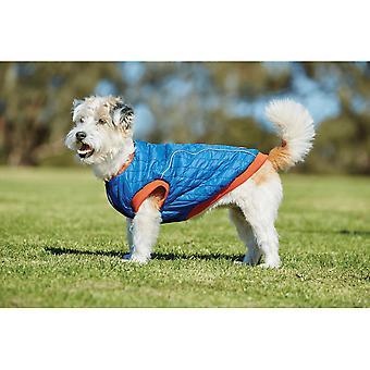 Weatherbeeta Puffer koiran takki-sininen/liekki