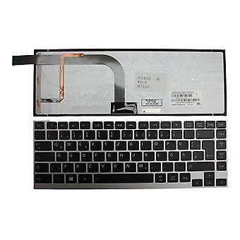 Toshiba Satellite Click W30T-A101 Silver Frame Backlit Black German Layout Replacement Laptop Keyboard