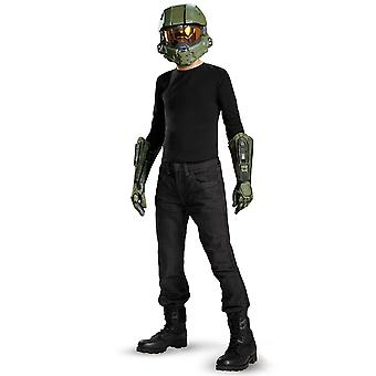 Master Chief Halo Army Video Games Boys Costume Kit Mask And Gloves