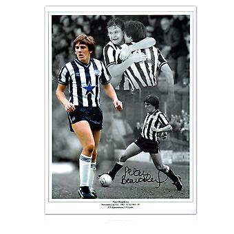 Peter Beardsley signiertes Newcastle United Photo