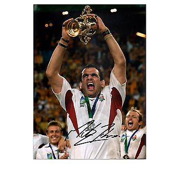 Martin Johnson ondertekend England Rugby foto: World Cup winnaar