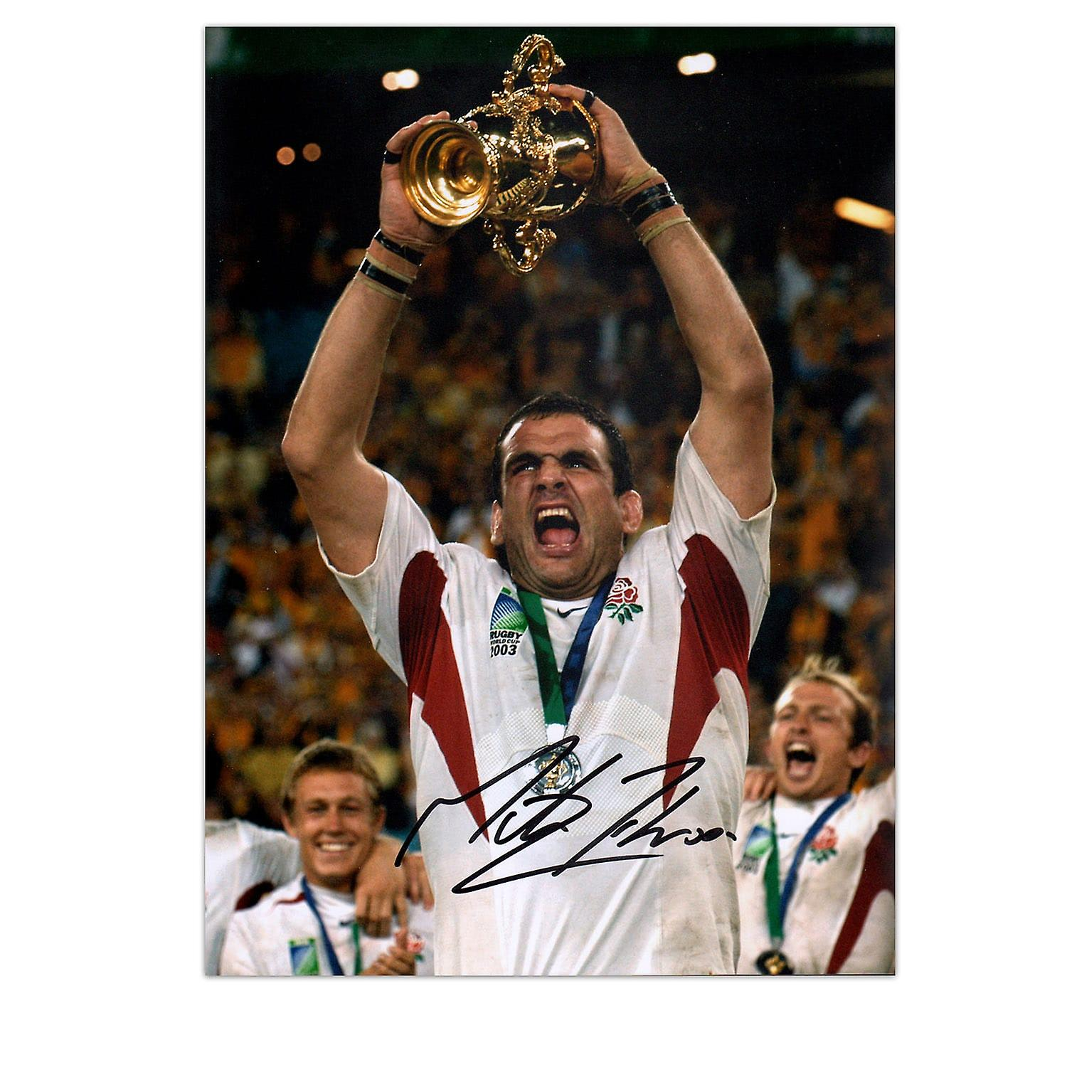 Martin Johnson Signed England Rugby Photo: World Cup Winner