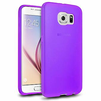 Samsung Galaxy S6 Hoesje Siliconen Paars - CoolSkin3T