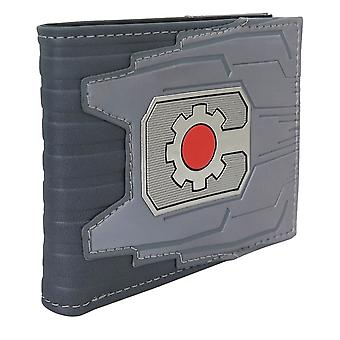 Cyborg Chrome Weld Patch Men-apos;s Bi-Fold Portefeuille