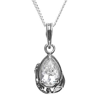 InCollections 241A201711340 - Chain with women's pendant with cubic zirconia - silver sterling 925 - 420 mm