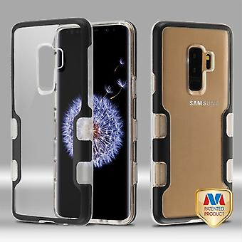 MYBAT Metallic Black/Transparent Clear TUFF Panoview Hybrid Protector Cover  for Galaxy S9 Plus