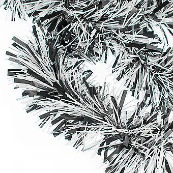 Monochrome Chunky Cut Extra Dense Tinsel Christmas Tree Décoration - 2m