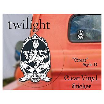 Twilight Sticker Clear Vinyl Style D (Crest)
