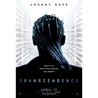 Transcendence Original Movie Poster - Double Sided Advance Style A