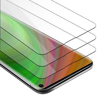 Cadorabo Tank Foil for Samsung Galaxy S10 - 3 Pack Hardened (Tempered) Display Protective Glass in 9H Hardness with 3D Touch Compatibility