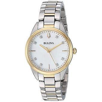 Bulova 98P184 Ladies Two Tone Diamond Wristwatch