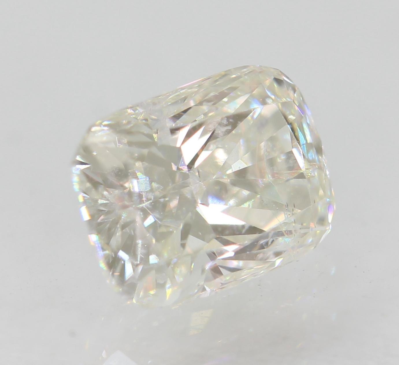 Certified 0.74 Carat F VS1 Cushion Enhanced Natural Loose Diamond 5.99x4.49mm