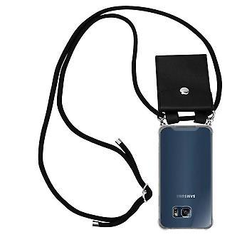 Case Telefonkedja för Samsung Galaxy S6 EDGE Flexibel TPU Silikon telefonväska - Omslag - ultra slim