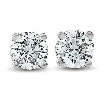 1/3 Ct TDW Diamond Studs 14K White Gold IGI Certfied Lab Grown