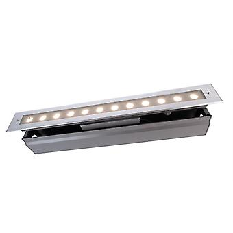 Lampada a pavimento incassata a LED Line V WW 16W 3000 K 20o 549 mm ip67