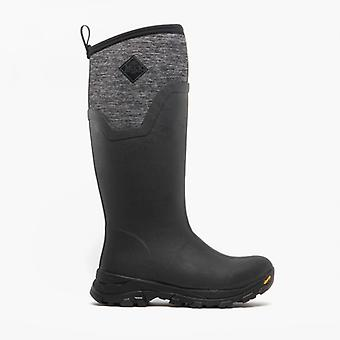Muck Boots Arctic Ice Tall Ladies Rubber Wellington Boots Black/heather