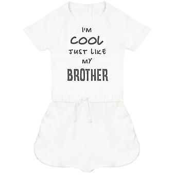 I-apos;m Cool Just Like My Brother Baby Playsuit