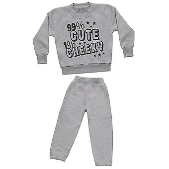 90% Cute 1% Cheeky - Sweatshirt with Grey Joggers - Baby / Kids Outfit