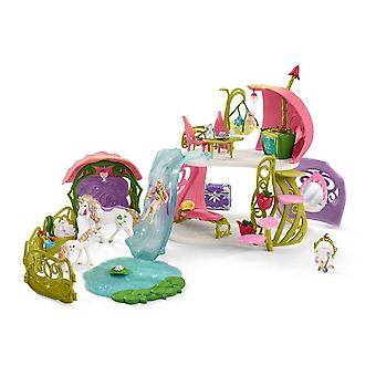 Schleich Bayala Glittering Flower House with Unicorns, Lake and Stable (42445)