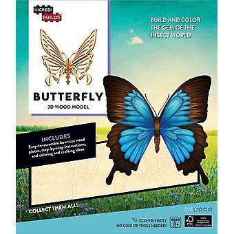 IncrediBuilds Butterfly 3D Wood Model