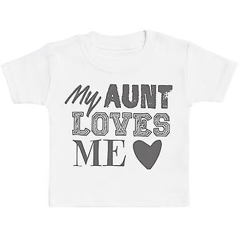 My Aunt Loves Me Baby T-Shirt - Baby TShirt Gift - Baby Tee - Baby Gift