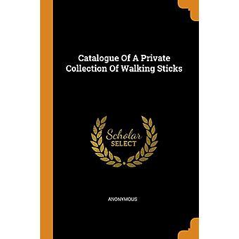 Katalog över en privat samling av promenadkäppar