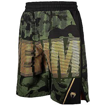 Shorts d'entraînement tactique Venum Khaki/Noir/Or