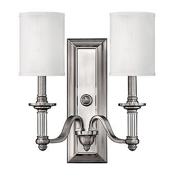 Stead-2 Light Indoor Wall Light Brushed Nickel-HK/SUSSEX2