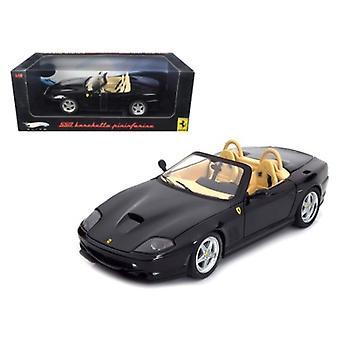 Ferrari 550 Barchetta Pininfarina Black Elite Edition 1/18 Diecast Model Car By Hotwheels