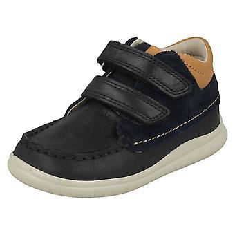Chłopców pierwsze buty botki Clarks w chmurze Tuktu