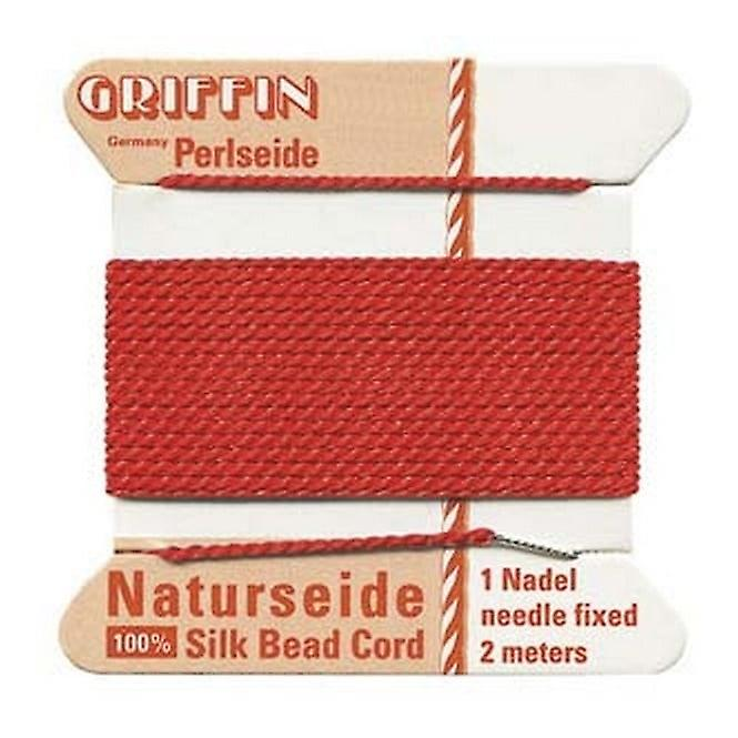 Griffin Griffin Silk Bead Cord - No 4 (0.6mm) - Red
